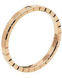 Chopard Ice Cube Pure Diamond 18k Rose Gold Ring 57 - Metallic