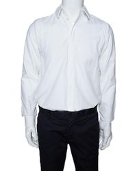 Givenchy White Cotton Patched Long Sleeve Shirt