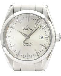 Omega Silver Stainless Steel Seamaster Aqua Terra 2518.30 Men's Wristwatch 36mm - Metallic
