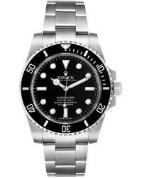 Rolex Black Stainless Steel Submariner Ceramic 114060 Wristwatch 40mm