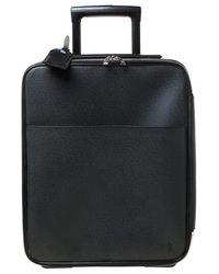 Louis Vuitton Ardoise Taiga Leather Pegase 45 Business Luggage - Black
