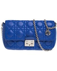 Dior - Blue Cannage Quilted Leather Small Miss Flap Bag - Lyst