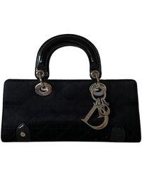 Dior Black Leather E/w Lady Mini Bag