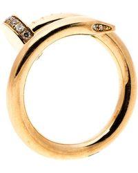 Cartier - Juste Un Clou Diamond & 18k Rose Gold Ring 50 - Lyst