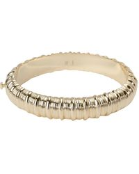 Cartier 18k Yellow Gold Ribbed Bangle - Metallic