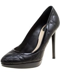 Dior - Quilted Cannage Leather Platform Pumps - Lyst