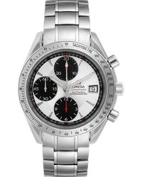 Omega Silver Stainless Steel Speedmaster Date Chronograph 3211.31.00 Wristwatch 40mm - Metallic