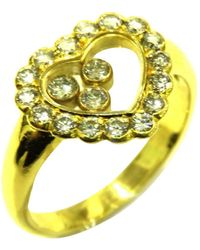 Chopard - 18k Yellow Gold Happy Diamonds Icons Ring - Lyst