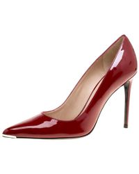 Barbara Bui - Red Patent Leather Metal Pointed Toe Pumps Size 41 - Lyst