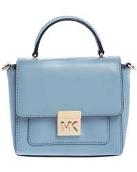 MICHAEL Michael Kors Sky Blue Leather Mini Mindy Top Handle Bag