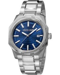 1281f75179ff2 Roberto Cavalli Navy Stainless Steel Rv1g025m0051 Men's Wristwatch 40mm -  Blue