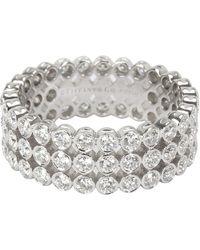 Tiffany & Co. Jazz 2.13 Ctw Diamond Platinum Ring - Metallic