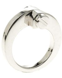 Cartier - Menotte 18k White Gold Ring - Lyst