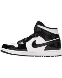 Nike Jordan 1 Mid Carbon Fibre All-star Trainers - Black