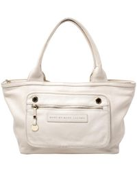 Marc By Marc Jacobs Off White Leather Satchel