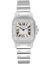 Cartier Silver Stainless Steel Santos W20056d6 Wristwatch - Metallic