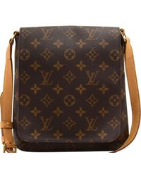 cfb278c30898 Lyst - Louis Vuitton Monogram Musette Tango Short Shoulder Bag Brown ...