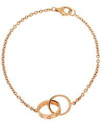 Cartier Love Screw Motif 18k Rose Gold Bracelet - Metallic