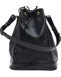 7cac1ed530d Lyst - Louis Vuitton Black Epi Leather Noe Gm in Black