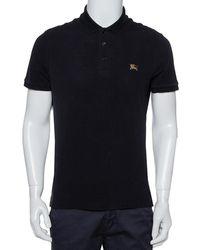 Burberry Brit Black Cotton Pique Polo T-shirt