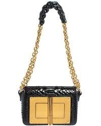 Tom Ford Black Python Mini Natalia Chain Crossbody Bag