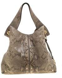 MICHAEL Michael Kors Olive Green Python Embossed Leather Astor Hobo