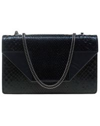 Saint Laurent Black Python Betty Shoulder Bag