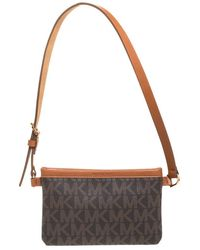 MICHAEL Michael Kors Brown/tan Signature Coated Canvas And Leather Belt Bag