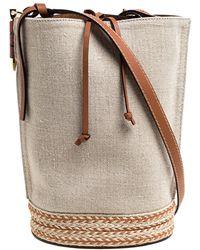 Loewe Beige/camel Leather Gate Bucket Bag - Natural