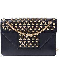Saint Laurent Black Leather Studded Betty Shoulder Bag