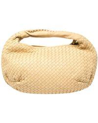 Bottega Veneta Beige Intrecciato Leather Medium Hobo - Natural