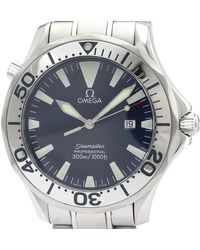 Omega Blue Stainless Steel Seamaster Professional 300m 2265.80 Men's Wristwatch 41mm