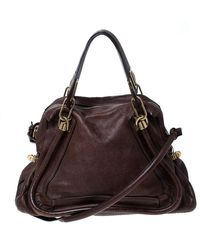 Chloé Brown Leather Paraty Shoulder Bag