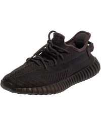 Yeezy Yeezy Black Knit Fabric Boost 350 V2 Static Non Reflective Trainers - Grey