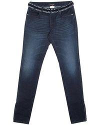 Chanel Indigo Dark Wash Denim Waist Applique Detail Stretch Jeans M - Blue