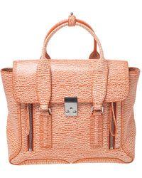 3.1 Phillip Lim Antique Orange Leather Medium Pashli Satchel