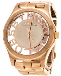 Marc By Marc Jacobs - Rose Gold Plated Henry Skeleton Mbm3207 Women's Wristwatch 40 Mm - Lyst