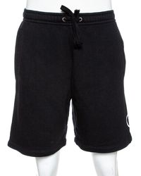 Gucci Black Logo Print Cotton Jersey Shorts