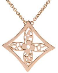 Louis Vuitton Monogram Idylle Pendant 18k Yellow Gold Necklace - Metallic