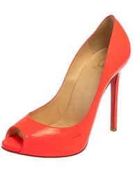 Christian Louboutin Pink Patent Leather Very Prive Court Shoes