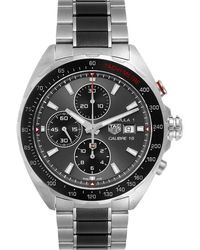 Tag Heuer Grey Stainless Steel Formula 1 Calibre16 Chronograph Caz2012 Wristwatch 44 Mm
