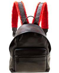 Ferragamo Black Firenze Glow Leather Backpack