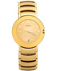 Rado Yellow Gold Plated Stainless Steel Coupole R2262773 Wristwatch - Metallic