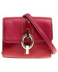 Diane von Furstenberg Red Leather Micro Mini Sutra Shoulder Bag