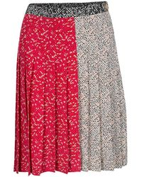 Marc By Marc Jacobs - Multicolor Graphic Print Pleated Silk Skirt - Lyst