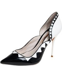 Sophia Webster - Black/white Patent Leather And Leather D'orsay Pumps - Lyst