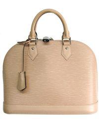 Louis Vuitton Dune Epi Leather Alma Pm Bag - Natural