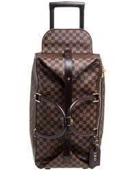 Louis Vuitton Damier Ebene Coated Canvas Eole Rolling Luggage - Brown