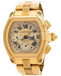Cartier Santos 100 Skeleton Mens Watch - Metallic