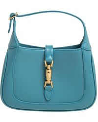 Gucci Turquoise Leather Mini 1961 Jackie Hobo - Blue